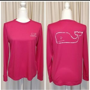 Vineyard Vines Slub Vintage Whale Long Sleeve Tee